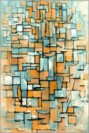 Piet Mondrian - Tableau No. 1; Line Color/1913