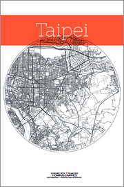 campus graphics - Taipei Map City Black and White