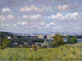 Alfred Sisley - The Valley of the Seine at Saint-Cloud