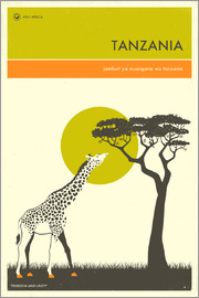 Jazzberry Blue - Tanzania Travel Poster