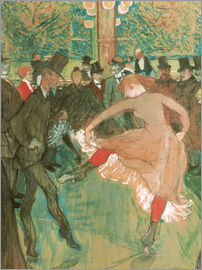 Henri de Toulouse-Lautrec - Dance at the Moulin Rouge, detail