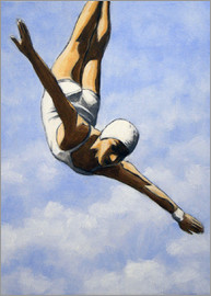 Sarah Morrissette - Diver in the clouds # 2