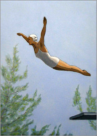 Sarah Morrissette - Diver with trees