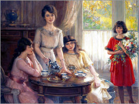 Albert Lynch - Tea Time.