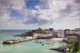 Billy Stock - Tenby Harbour, Pembrokeshire, West Wales, Wales, United Kingdom, Europe