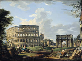 Giovanni Paolo Pannini - The Colosseum and the Arch of Constantine