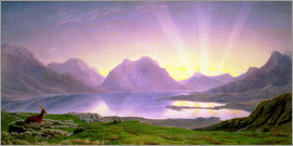 Joseph Mallord William Turner - The Dawn, Loch Torridon