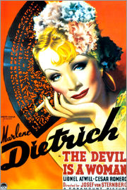 THE DEVIL IS A WOMAN, Marlene Dietrich, 1935 Poster Art