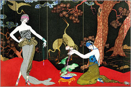 Georges Barbier - The Fashion for Lacquer, engraved by Henri Reidel, 1920