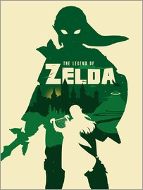 Golden Planet Prints - The Legend of Zelda minimalist art print