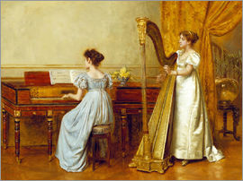 George Goodwin Kilburne - The Music Room