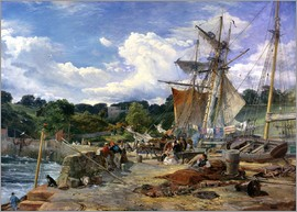 Samuel Bough - The Pier Head, Aberdour, Firth of Forth, 1865