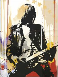 2ToastDesign - The ramones Johnny Ramone art print