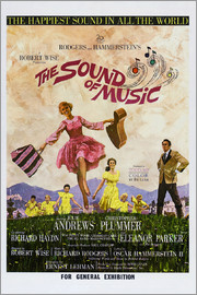 THE SOUND OF MUSIC, Australian poster, Julie Andrews, Christopher Plummer (far right), 1965.