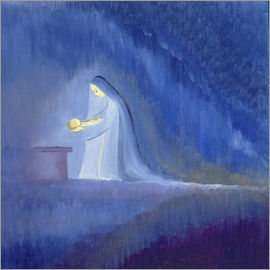 Elizabeth Wang - The Virgin Mary cared for her child Jesus with simplicity and joy, 1997