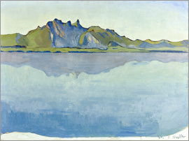 Ferdinand Hodler - Lake Thun with Stockhorn chain