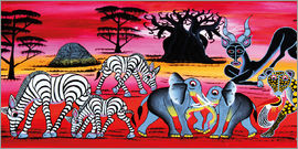 Chiwaya - Animals in the evening in the savannah