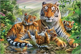 Adrian Chesterman - Tiger and Cubs