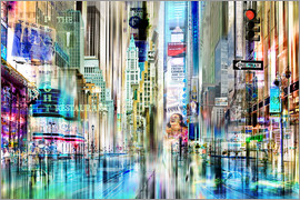 Städtecollagen - USA NYC New York Abstrakte Skyline Collage