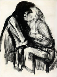 Käthe Kollwitz - Death grasps a woman