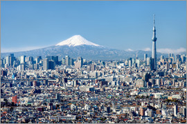 Jan Christopher Becke - Tokyo Skyline with Mt Fuji and Skytree and Shinjuku