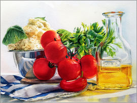 Maria Mishkareva - tomatoes and olive oil