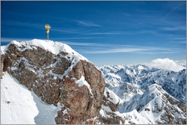 Sheila Haddad - Top of Zugspitze mountain top with snow in winter