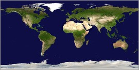 Nasa - Topographic world map