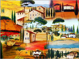 Christine Huwer - Tuscany Collage