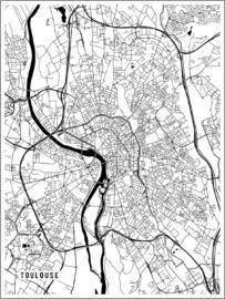 Main Street Maps - Toulouse France Map