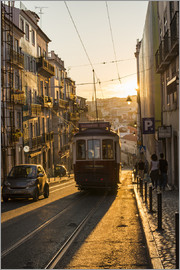 Alex Treadway - Tram in Lisbon, Portugal, Europe