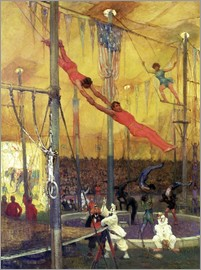 Francis Luis Mora - Trapeze Artists