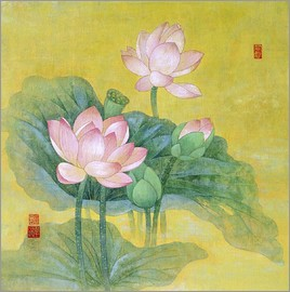 Lotus prints posters from 695 free delivery posterlounge ailian price dream lotus mightylinksfo