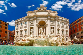 Trevi Fountain or Fontana di Trevi in ??summer