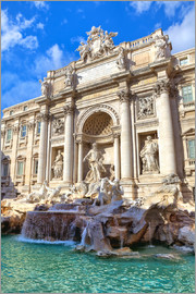 Trevi Fountain under blue sky