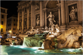 Reynold Mainse - Trevi Fountain at nighttime, Rome, Italy