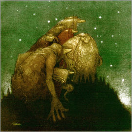John Bauer - Trolls in the Starlight