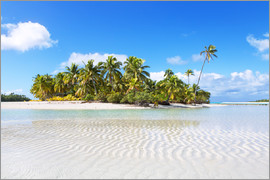 Matteo Colombo - Tropical beach with palm trees, One Foot Island, Aitutaki, Cook Islands