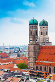 Towers of Frauenkirche in Munich