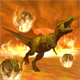 Elena Duvernay - Tyrannosaurus Rex struggles to escape from a meteorite crash.