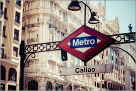 Underground Symbol in Madrid