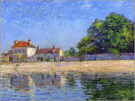 Alfred Sisley - The Banks of the Loing, Saint-Mammès