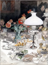 Carl Larsson - Around the lamp at evening