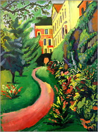 August Macke - Our garden with blooming discounts