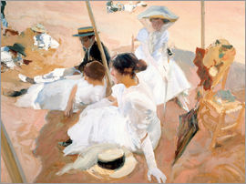 Joaquin Sorolla y Bastida - Under the Parasol, Zarauz