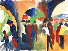 August Macke - Under the arbors
