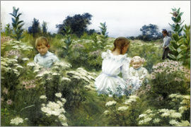Charles Courtney Curran - Among the Wildflowers