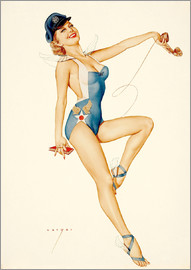Alberto Vargas - US Air Force Girl, 1953