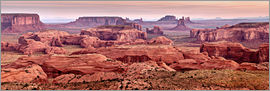 Ann Collins - USA, Arizona, Monument Valley Navajo Tribal Park, Panoramic view from Hunt's Mesa at dawn