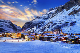 Val d'Isere at sunset